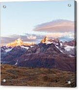 Sunrise At The Swiss Alps Acrylic Print