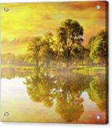 Sunrise At Trojan Park In Rainier Oregon Acrylic Print