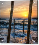Sunrise Between The Pillars Landscape Photograph Acrylic Print