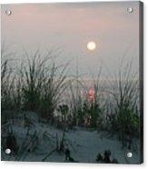 Sunrise Beyond The Sea Grass Acrylic Print