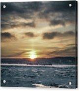 Sunrise Boat Acrylic Print