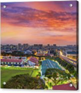 Sunrise By Mrt Station In Eunos Singapore Acrylic Print