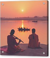 Sunrise By The Ganges Acrylic Print