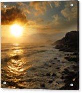 Sunrise By The Rocks Acrylic Print