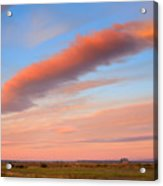 Sunrise Clouds And Barn Acrylic Print