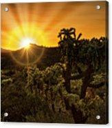 Sunrise Done With An Arizona Flare Acrylic Print