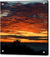Sunrise Drama By The Sea Acrylic Print