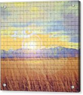 Sunrise Field 2 - Mosaic Tile Effect Acrylic Print