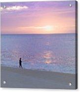 Sunrise Fisherman 2 Acrylic Print