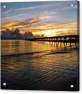 Sunrise Fort Clinch Pier Acrylic Print