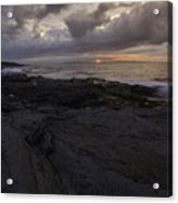 Sunrise From Beavertail In Jamestown Rhode Island Acrylic Print