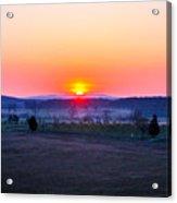 Sunrise From Confederate Avenue Gettysburg Acrylic Print
