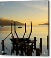 Sunrise From Governors Bay Acrylic Print by Barry Culling