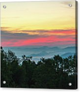 Sunrise From Maggie Valley August 16 2015 Acrylic Print