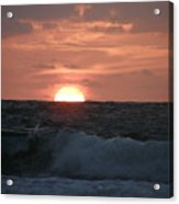 Sunrise From The Waves Acrylic Print