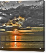 Sunrise-hdr-bw With A Touch Of Color Acrylic Print