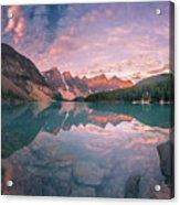 Sunrise Hour At Banff Acrylic Print