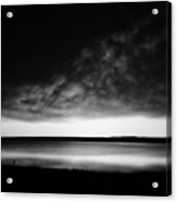 Sunrise In Black And White Acrylic Print