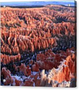 Sunrise In Bryce Canyon Amphitheater Acrylic Print