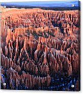 Sunrise In Bryce Canyon National Aprk Acrylic Print by Pierre Leclerc Photography