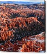 Sunrise In Bryce Canyon Acrylic Print