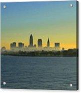 Sunrise In Cleveland Ohio Acrylic Print