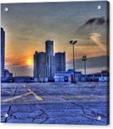 Sunrise In Detroit Mi Acrylic Print by Nicholas  Grunas