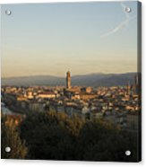 Sunrise In Florence Acrylic Print