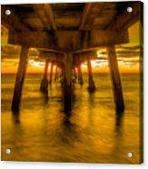 Sunrise In Ft Lauderdale Pier Acrylic Print
