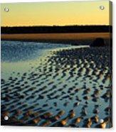 Sunrise In Gold Acrylic Print