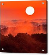 Sunrise In Hocking State Forest Acrylic Print
