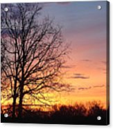Sunrise In Illinois Acrylic Print