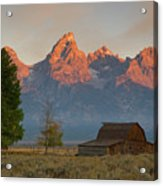 Sunrise In Jackson Hole Acrylic Print