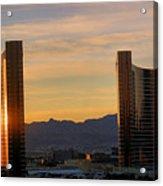 Sunrise In Las Vegas Acrylic Print