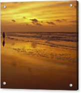 Sunrise In Orange Acrylic Print