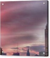 Sunrise In Philadelphia Acrylic Print