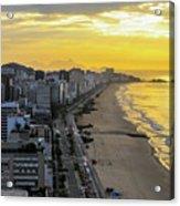 Sunrise In Rio De Janeiro Acrylic Print