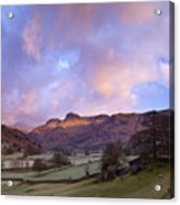 Sunrise In The Langdale Valley, Lake District, England. Acrylic Print