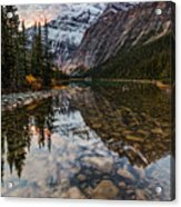 Sunrise In The Rocky Mountains Acrylic Print