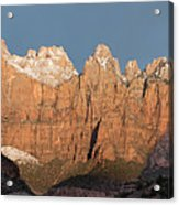 Sunrise In Zion National Park  Acrylic Print