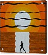Sunrise Jogger Acrylic Print