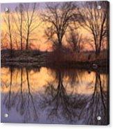 Sunrise Lake Reflections Acrylic Print