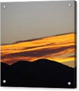 Sunrise Looks Back Acrylic Print