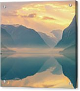 Sunrise Lovatnet, Norway Acrylic Print