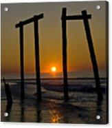 Sunrise At Ocean City Acrylic Print