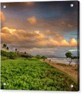 Sunrise Nukolii Beach Kauai Hawaii 7r2_dsc4068_01082018 Acrylic Print