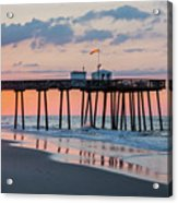 Sunrise Ocean City Fishing Pier Acrylic Print