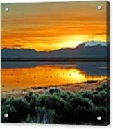 Sunrise on Antelope Island Acrylic Print