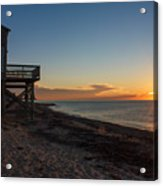 Sunrise On Beach Road, Falmouth Acrylic Print