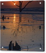 Sunrise On Boneyard Beach Acrylic Print